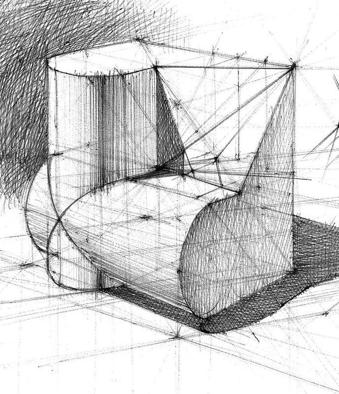 geometria rysunkowa perspektywa 3