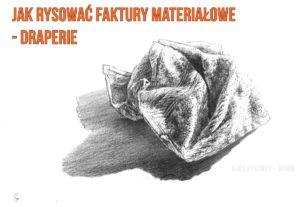 jak rysować faktury materiałowe - draperie
